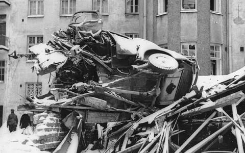 20. veebruar 1940 Soome väikelinnas pärast Nõukogude lennukite õhurünnakut 19. veebruaril 1940.