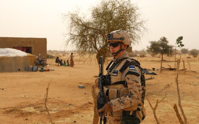 Major Allar Eesmaa in Mali.