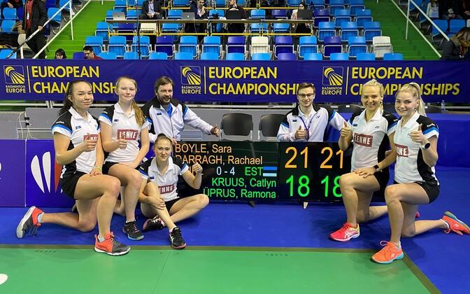 Eesti naiskond peale võitu Iirimaa üle