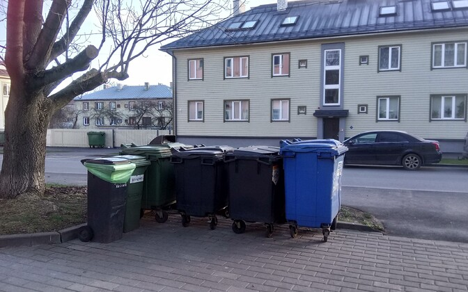 Waste containers.