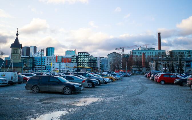A parking lot in Tallinn.