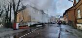 Пожар на улице Пебре в Пыхья-Таллинне.