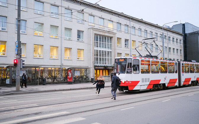 A tram in Tallinn.