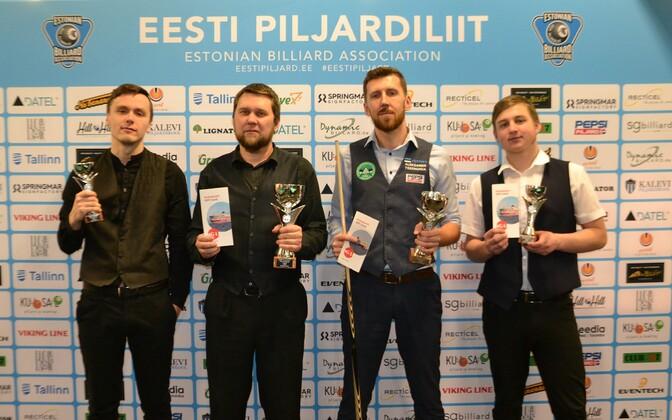 Andrei Sokolov (vasakult), Maksim Filatov, Aleksandr Tsernuhha ja Kristjan Sihvonen.