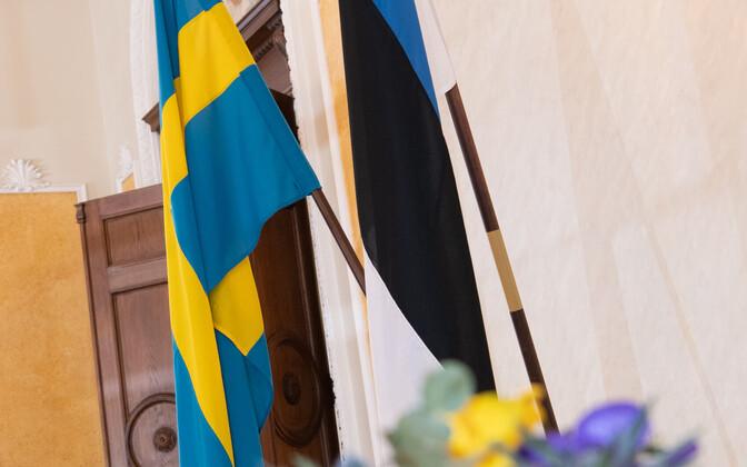 Swedish and Estonian flags