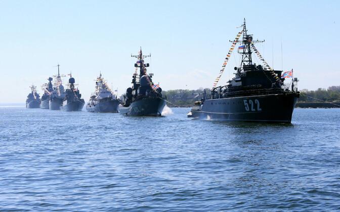 Vene sõjalaevad Baltiiskis.