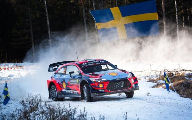 Ott Tänak - Martin Järveoja Rootsi MM-rallil