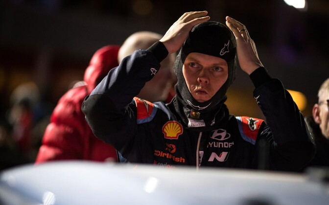 Ott Tänak at Rally Sweden.