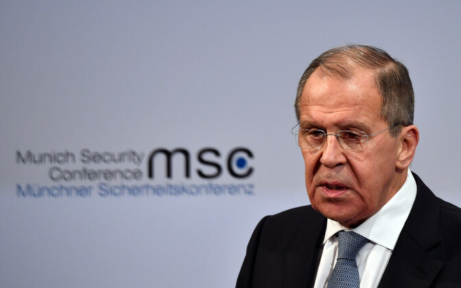 Vernemaa välisminister Sergei Lavrov Müncheni julgeolekukonverentsil.
