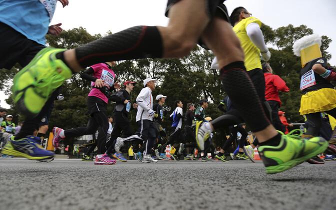 Jooksjad Tokyo maratonil