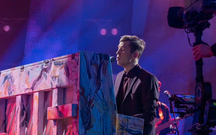 Выступление Эгерта Милдера в первом полуфинале Eesti Laul.