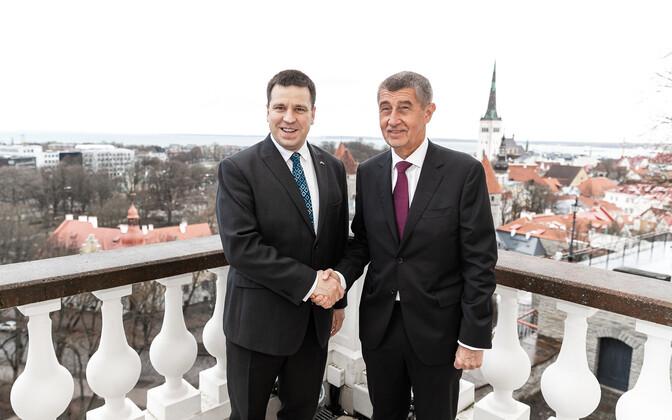 Prime Minister Jüri Ratas and Czech Prime Minister Andrej Babiš.