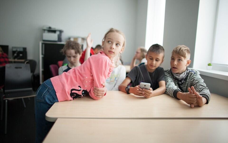 Дети в молодежном центре Ласнамяэ.