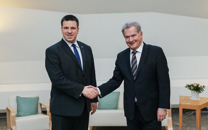 Prime Minister Jüri Ratas (Center) with Finnish President Sauli Niinistö