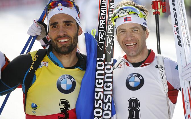 Martin Fourcade ja Ole Einar Björndalen 2017. aastal