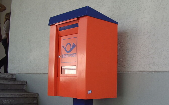 Eesti Post letter box.