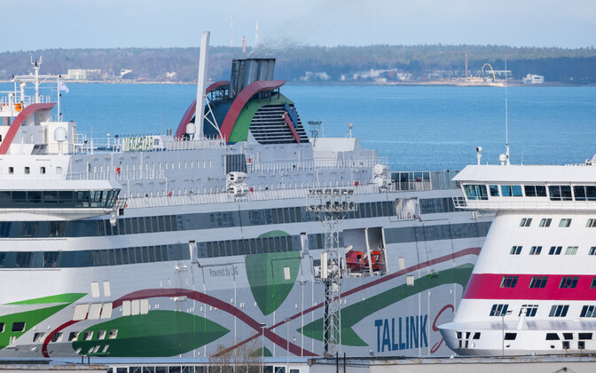 Tallink ferries at the Port of Tallinn.