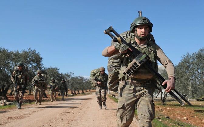 Türgi sõdurid Idlibis.