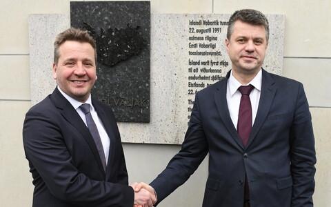 Islandi välisminister Gudlaugur Thor Thordarson ja Eesti välisminister Urmas Reinsalu 19. veebruaril 2020 Tallinnas.