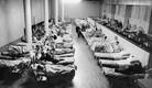 Talvesõjas haavata saanud Soome sõdurid ravil sõjaväehaiglaks muudetud endises luksushotellis.