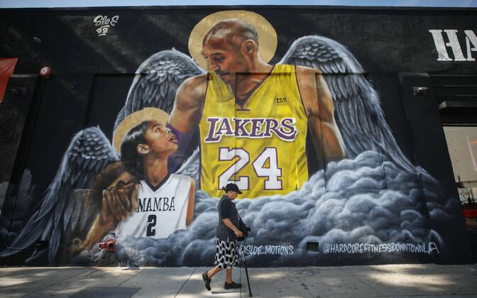 Seinamaaling Kobe Bryantist ja tema tütrest Giannast.