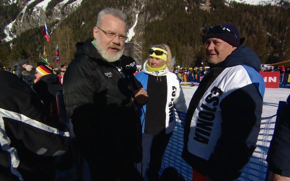 Eesti laskesuusatamise fännid Anterselvas