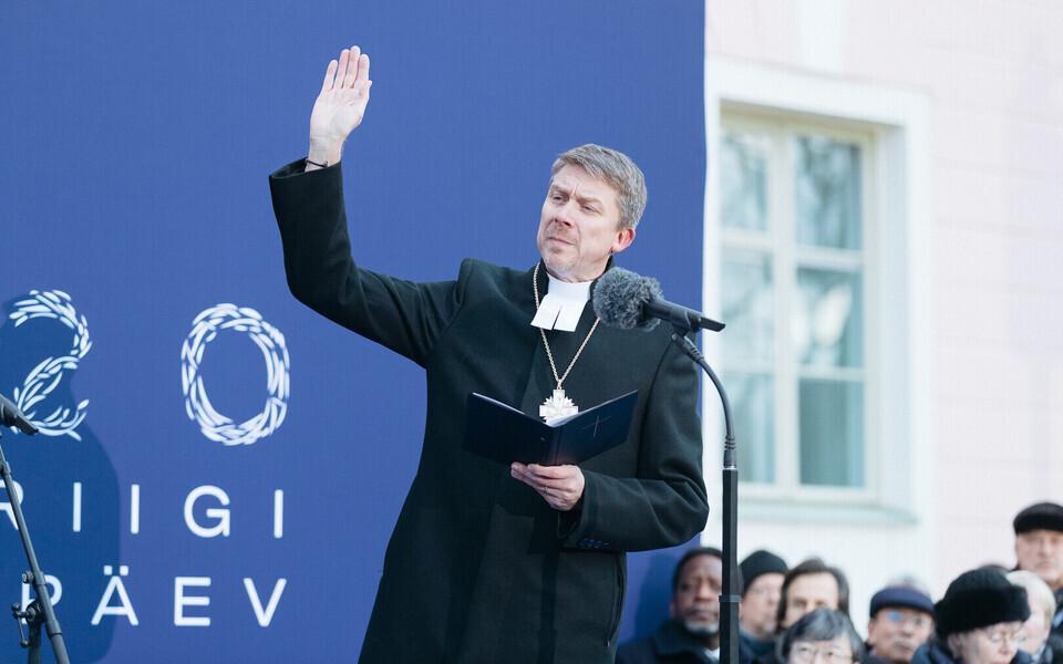 Урмас Вийльма выступил с речью 24 февраля 2020 года.