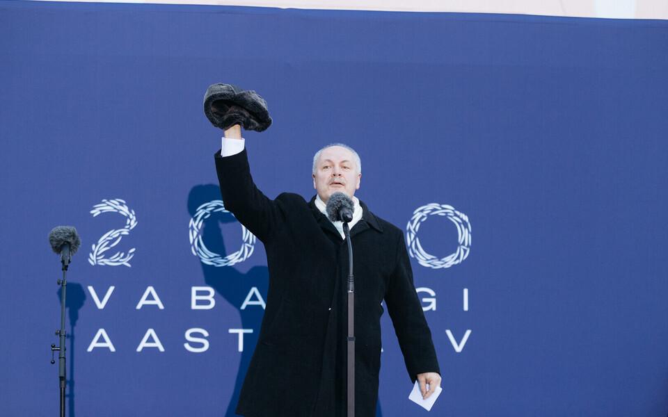 Хенн Пыллуаас выступил с речью.