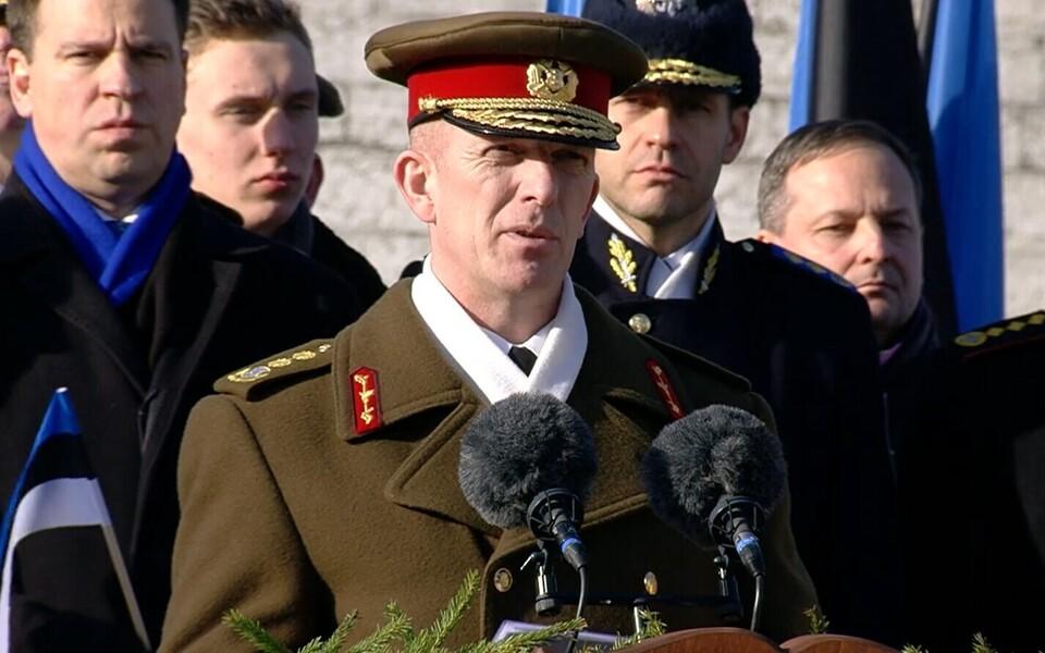 Мартин Херем выступает с речью 24 февраля.