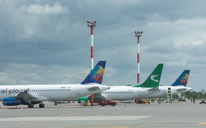 Lennukid Vilniuse lennuväljal.