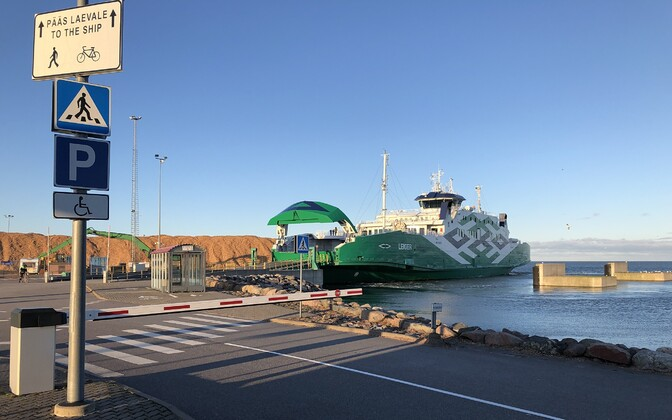 Ferry at Heltermaa port on Hiiumaa.