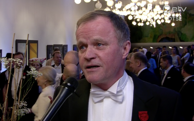 Tommi Mäkinen at the independence day reception.