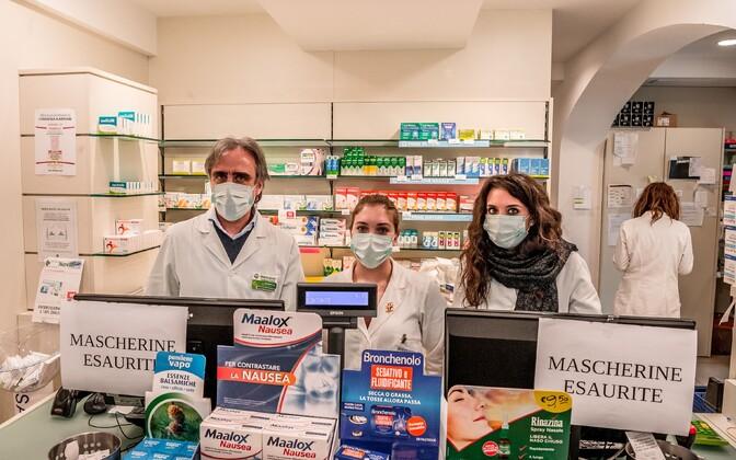 Аптека в Северной Италии.