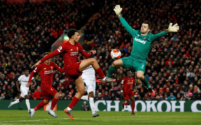 Liverpool teenis rekordiga võrdse 18. järjestikuse võidu