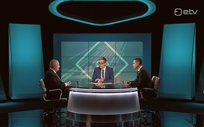 Henn Põlluaas (EKRE) and Taavi Rõivas (Reform) on Wednesday night's edition of