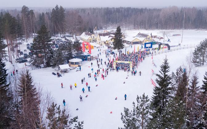 Tallinna suusamaratoni finišipaik.