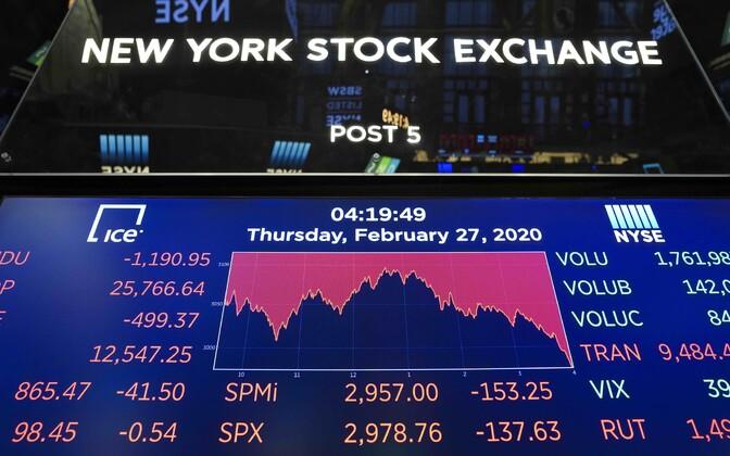 New Yorgi aktsiabörs.
