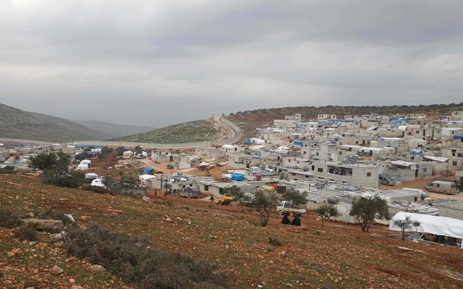 Improviseeritud põgenikelaager Türgi piiril Süüria Idlibi provintsis.