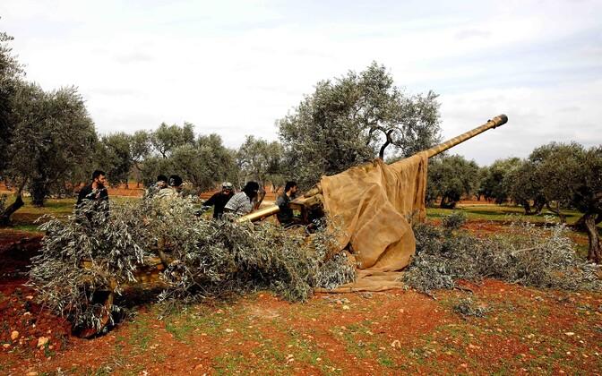 Türgi toetatud võitlejad Süürias.