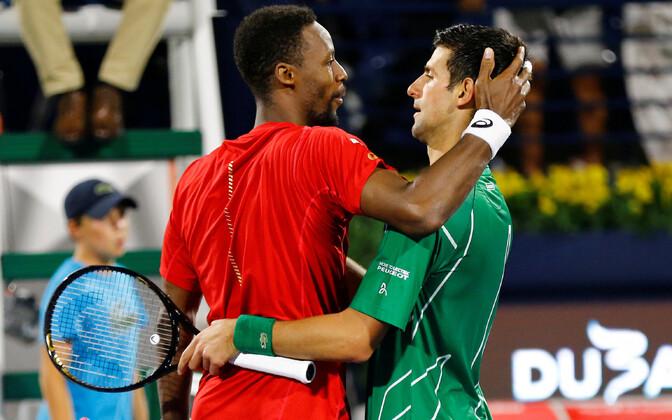 Gael Monfils ja Novak Djokovic