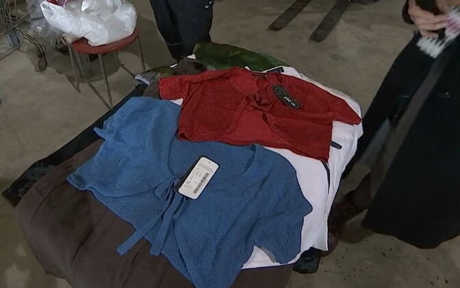 A selection of Klementi clothing inventory held by the MTA since the company went bankrupt 9 years ago.