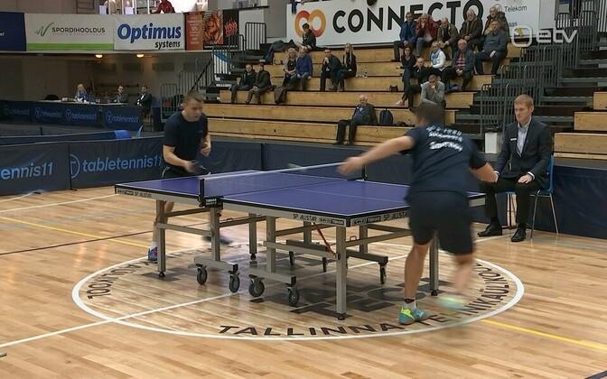 Финал чемпионата Эстонии по настольному теннису.
