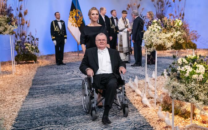 Эдгар Сависаар на президентском приеме.