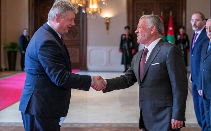 Estonian Ambassador Miko Haljas presented his credentials to His Majesty, King Abdullah II of Jordan.