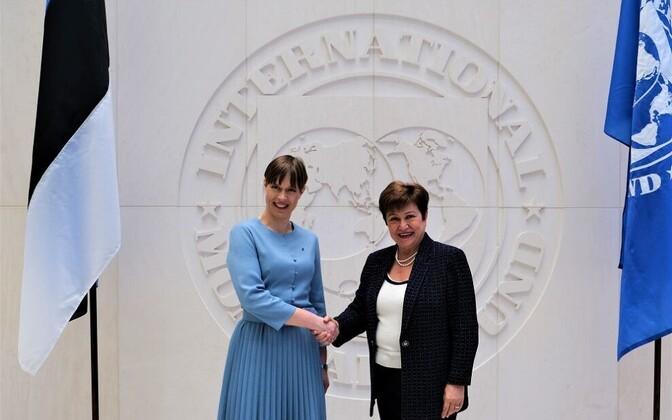 Kersti Kaljulaid with Kristalina Georgieva, IMF Managing Director.