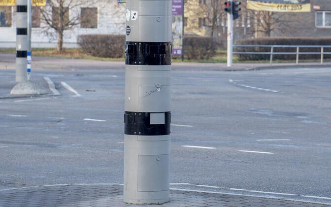 Speed camera on Kristiine intersection.
