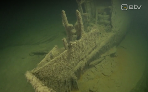 Shipwreck in Estonian waters. Picture is illustrative.