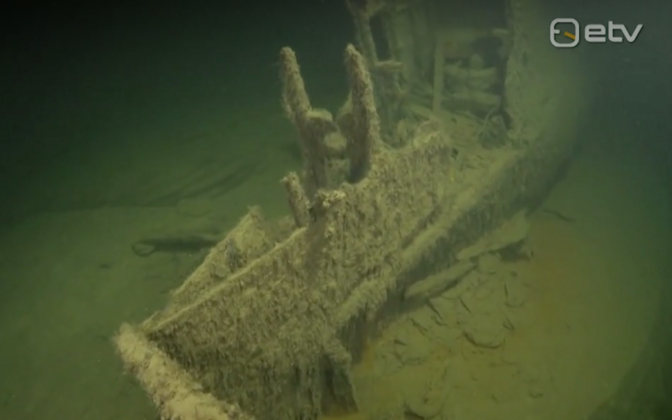 Shipwreck in Estonian waters.