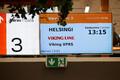 Viking Line'i tabloo Tallinna sadamas