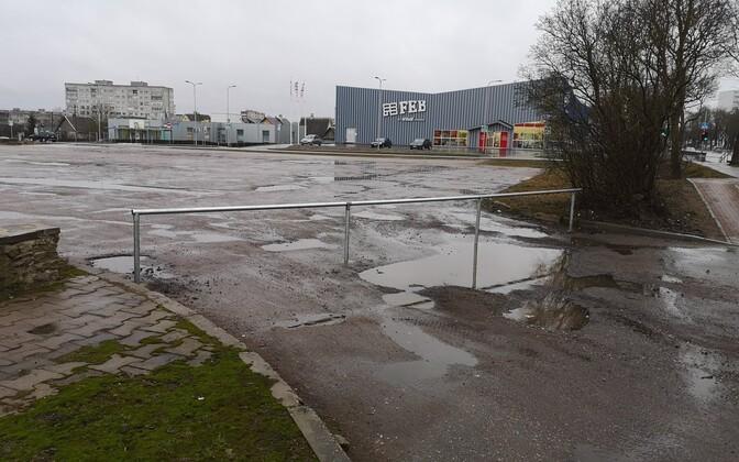 Площадку на Таллиннском шоссе в Нарве закрыли для грузовиков.